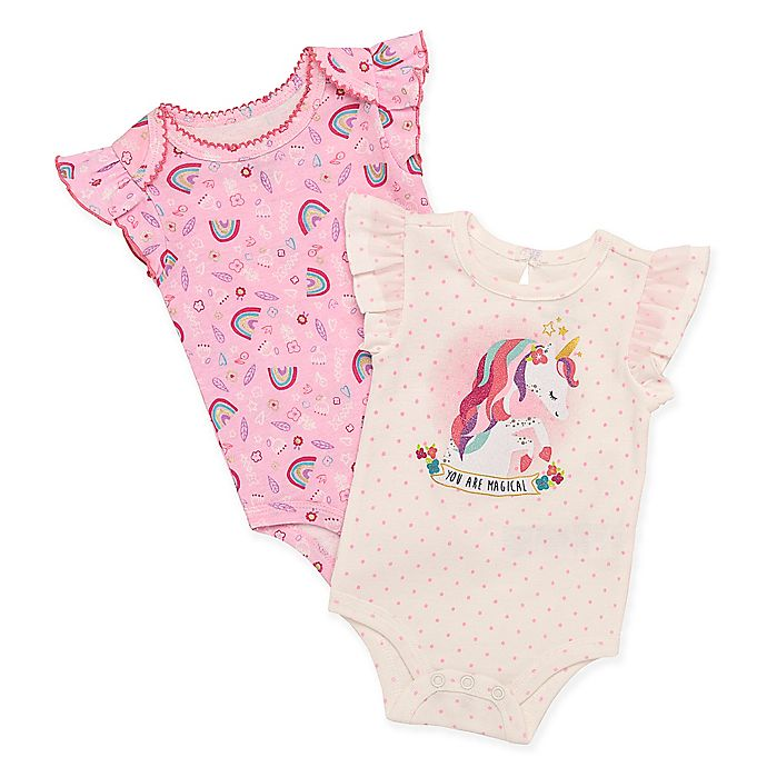 3316402b91 Baby Starters® 2-Pack Unicorn Magical Bodysuits
