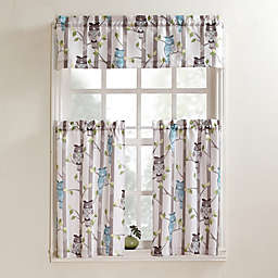 No.918® Hoot Rod Pocket Kitchen Window Curtain Tier Pair