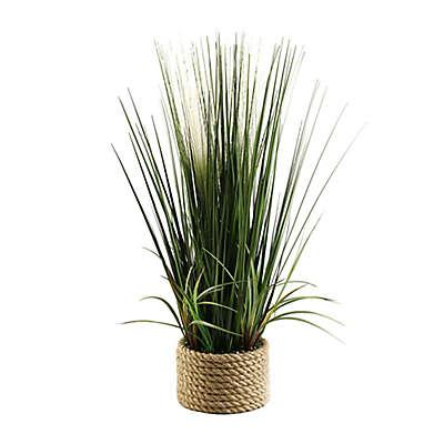 D&W Silks Mixed Grasses in Ceramic Planter