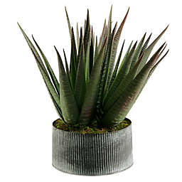 D&W Silks Agave Plant in Tin Planter