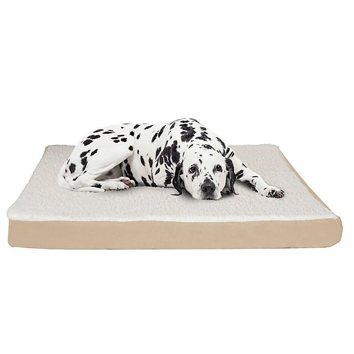 Alternate image 1 for PETMAKER Orthopedic Jumbo Pet Bed in Tan