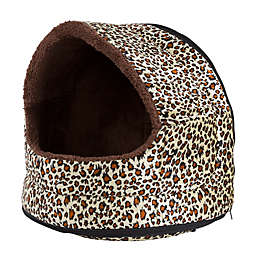 Petmaker Small Cave Pet Bed in Cheetah
