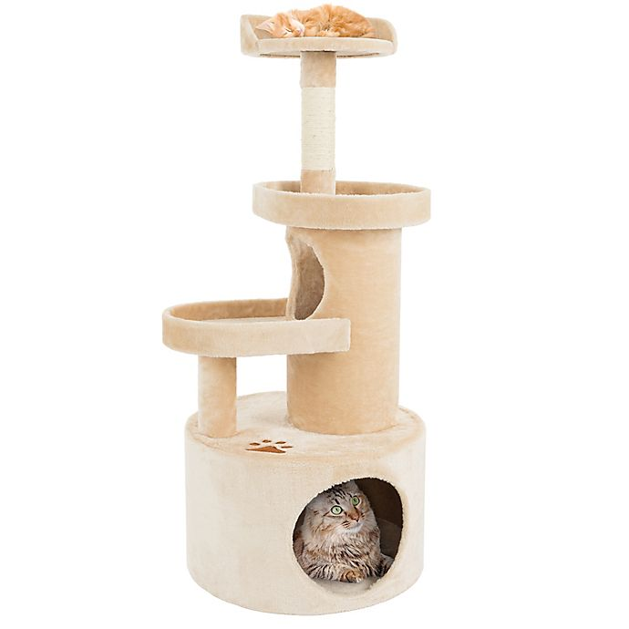 Alternate image 1 for Petmaker 4-Tier Cat Tree Condo with Tunnel in Tan