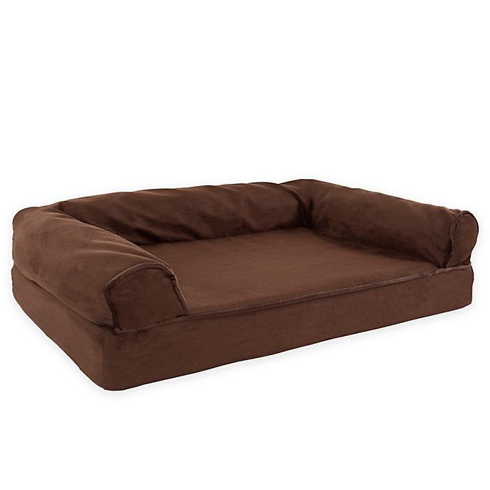 Alternate image 1 for Petmaker Medium Orthopedic Sofa Pet Bed in Brown