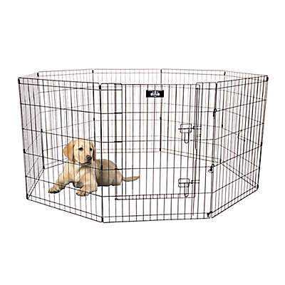 PETMAKER Freestanding  Exercise Playpen in Black