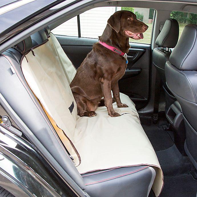 Alternate image 1 for Petmaker Pet Car Seat Cover in Tan