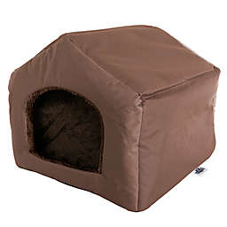 Petmaker Cottage House Small Pet Bed in Brown