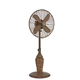Deco Breeze® Cantalonia 16-Inch 3-Speed Oscillating Outdoor Floor Fan in Brown