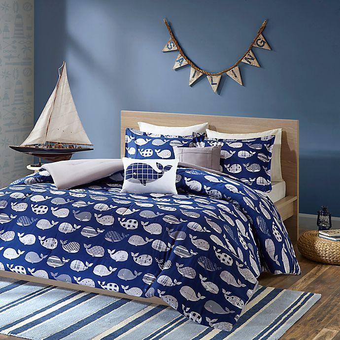 Alternate image 1 for Urban Habitat Kids Moby Whale Printed Comforter Bedding Set