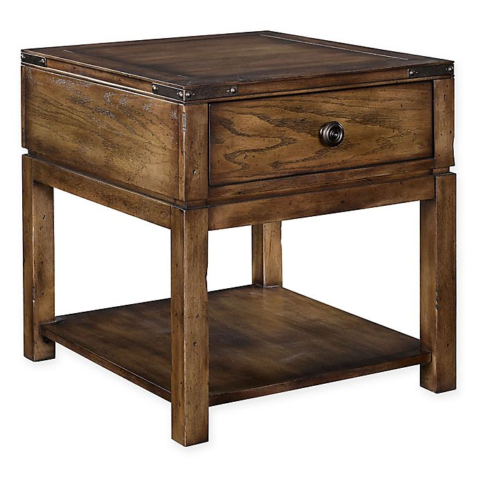 That Furniture Place: Broyhill Pike Place Drawer End Table In Brown
