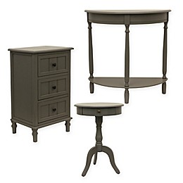 Décor Therapy Eased Edge Table Collection in Grey