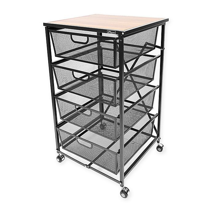 Origami 4 Tier Cart With Bins Bed Bath Beyond