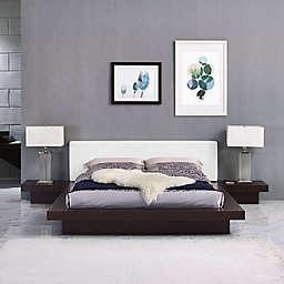 Modway Freja 3-Piece Queen Vinyl Bedroom Set