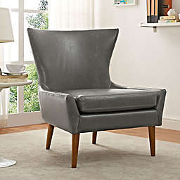 Modway Keen Vinyl Upholstered Arm Chair