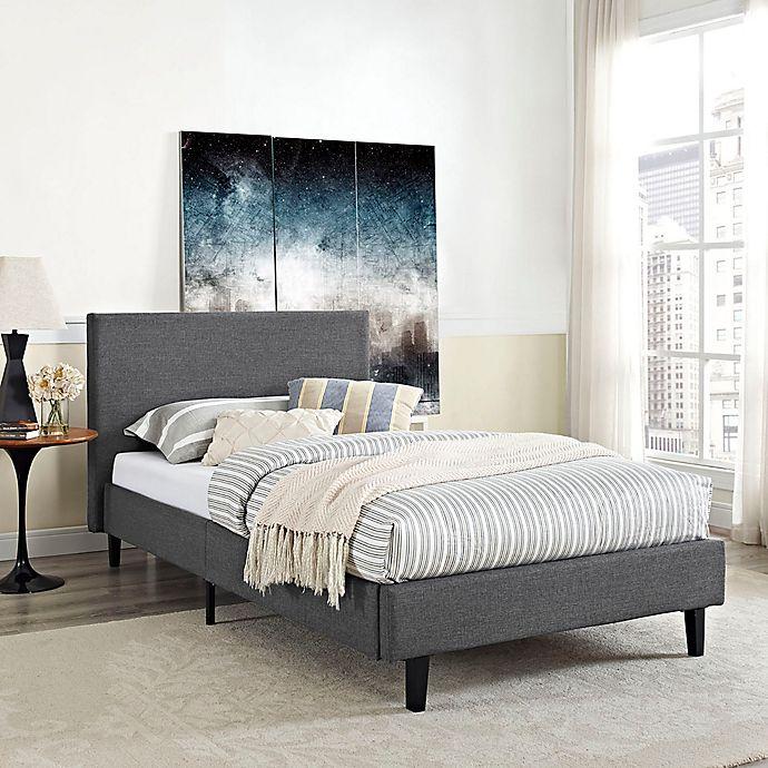 Alternate image 1 for Modway Anya Upholstered Platform Bed