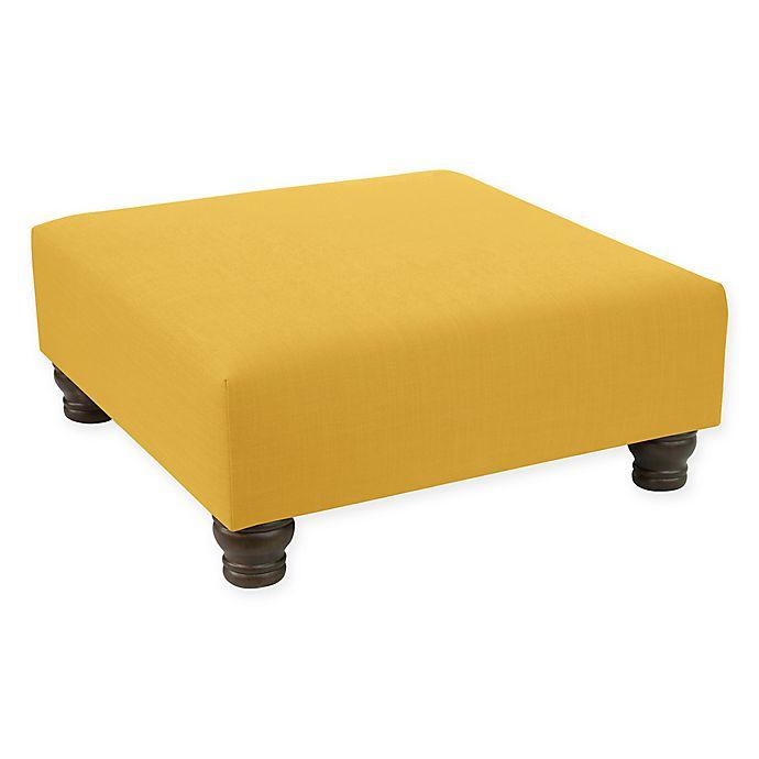 Alternate image 1 for Skyline Furniture Hugh Ottoman in Yellow