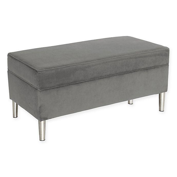 Alternate image 1 for Skyline Furniture Milligan Storage Bench in Grey