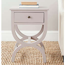 Safavieh Maxine 1-Drawer Night Table in Quartz Grey