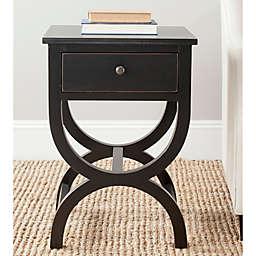 Safavieh Maxine 1-Drawer Night Table in Black