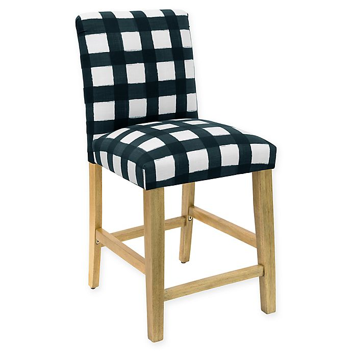 Skyline Furniture Becker Stool In Buffalo Square Turquoise