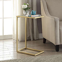 Carolina Cottage Ansley Computer Tray Table With Gl Top In Gold