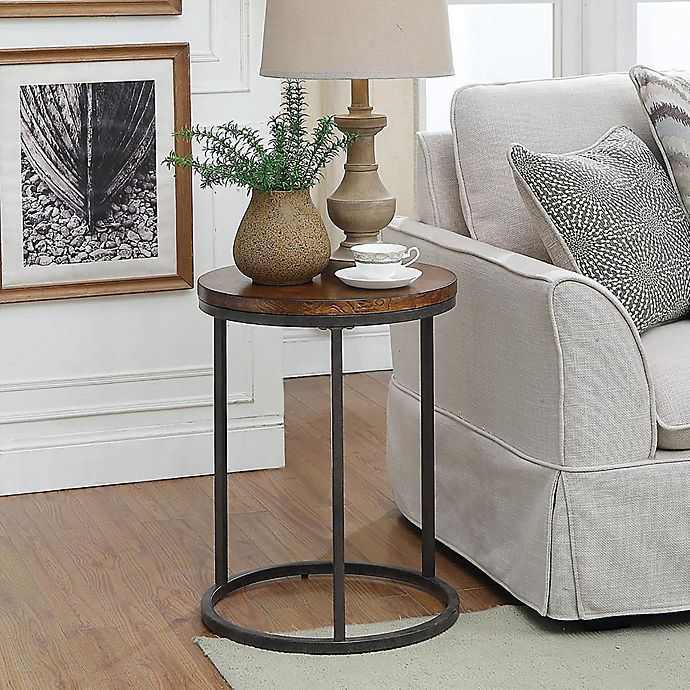 Carolina Cottage Orson Accent Table In Chestnut