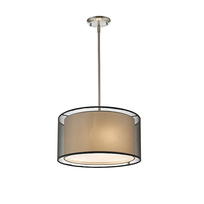 Alternate image 1 for Sage 3-Light Ceiling-Mount Small Pendant in Brushed Nickel