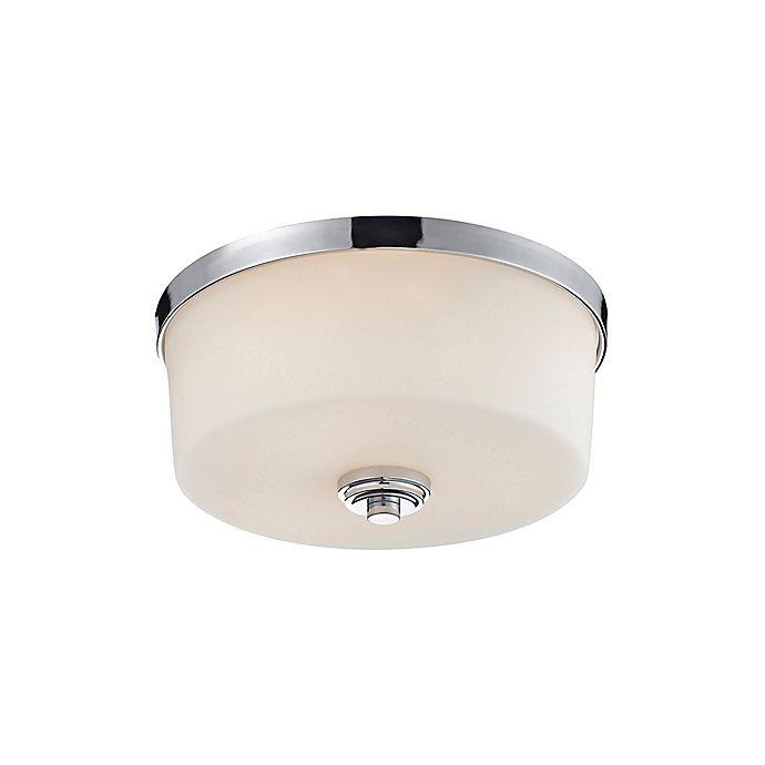 Laurel 3 Light Flush Mount Ceiling Fixture In Chrome Bed Bath Amp Beyond