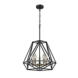 Sansa 5-Light Chandelier in Dark Bronze