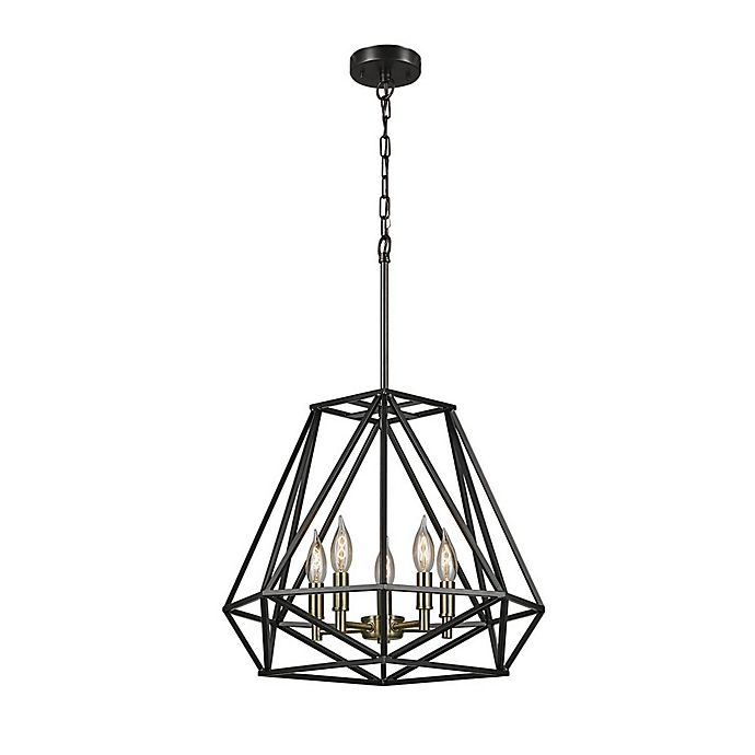 Alternate image 1 for Sansa 5-Light Chandelier in Dark Bronze