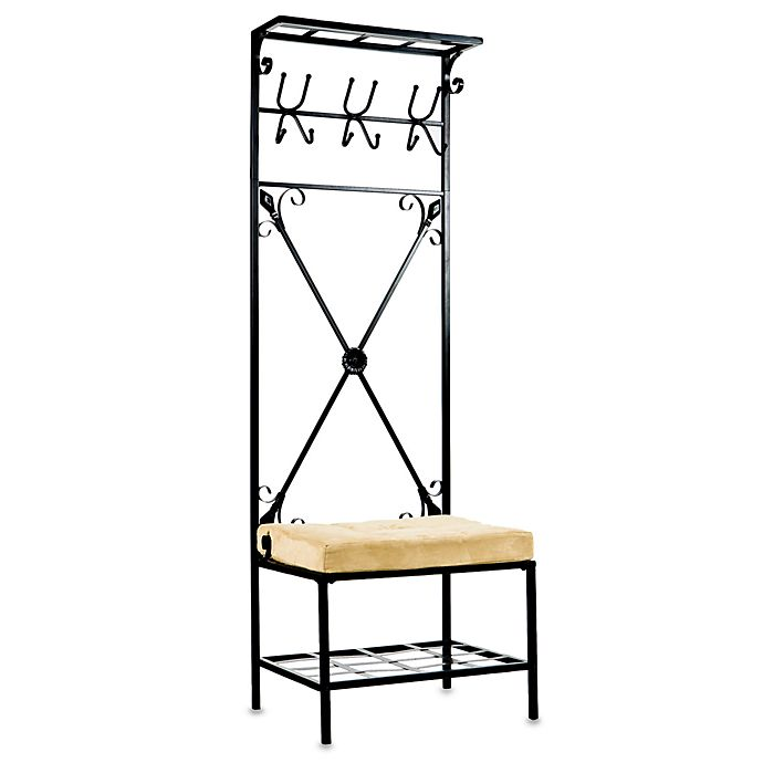 Alternate image 1 for Southern Enterprises Entryway Storage Rack with Bench