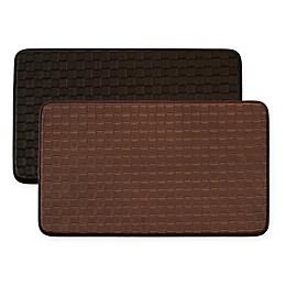 Chef Gear Basket Weave Faux Leather Comfort Kitchen Mat