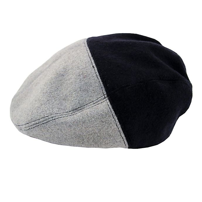 Alternate image 1 for Rising Star™ Color Block Cabbie Hat in Grey/Blue