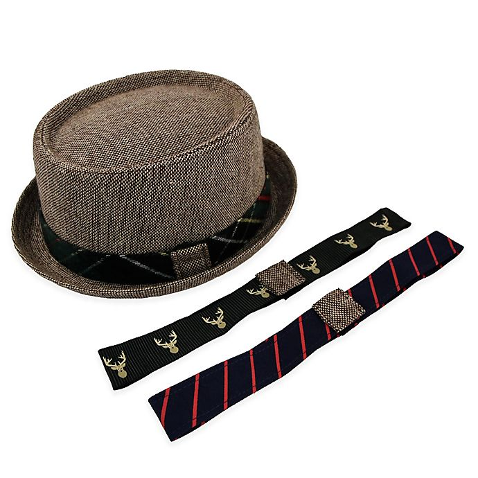 Alternate image 1 for Rising Star™ Interchangeable Band Tweed Fedora in Brown