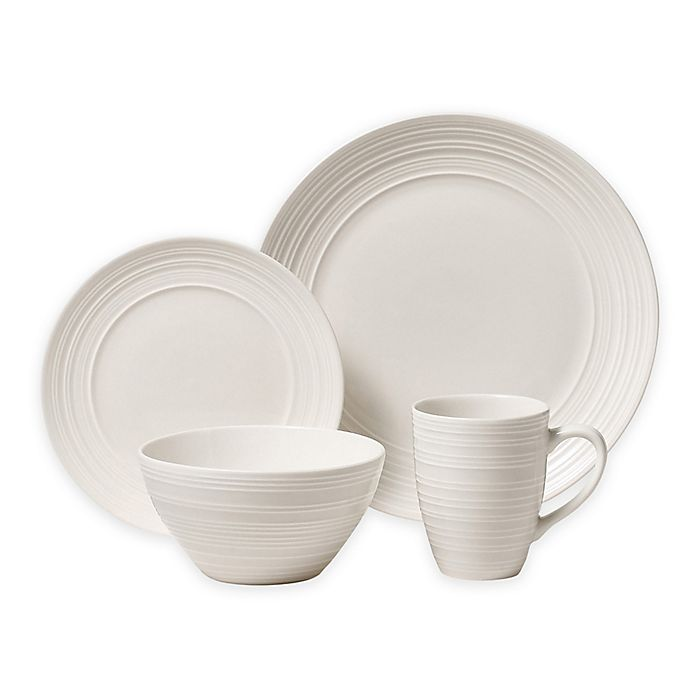 Alternate image 1 for Thomson Pottery Ripple 16-Piece Dinnerware Set in Off-White