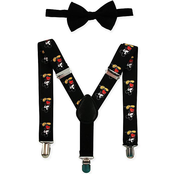 e61584dceb7 Disney® Infant Toddler 2-Piece Mickey Mouse Suspender and Bow Tie Set in  Black