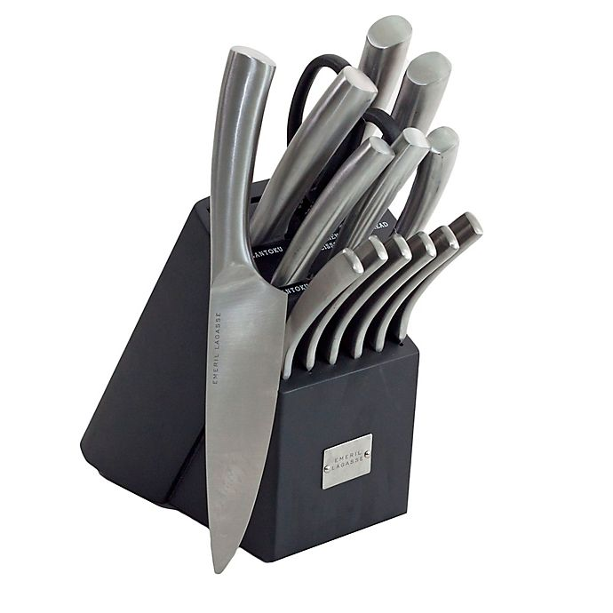 Emeril 15 Piece Stainless Steel Curved Knife Block Set