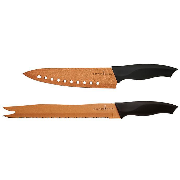 Copper Chef 2 Piece Ever Sharp Knife Set Bed Bath Beyond