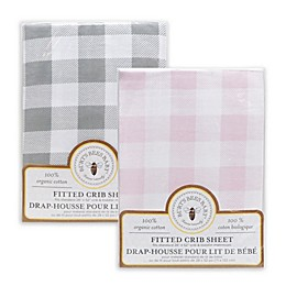 Burt's Bees Baby® Buffalo Check Organic Cotton Fitted Crib Sheet