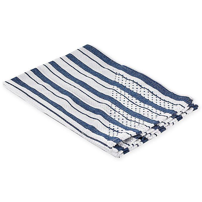 Alternate image 1 for Polder Grip Dry Kitchen Towel in Blue Stripe