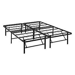 Modway Horizon Queen Stainless Steel Bed Frame in Brown