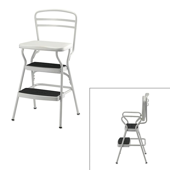 Fantastic Cosco White Chair Step Stool Bed Bath Beyond Machost Co Dining Chair Design Ideas Machostcouk