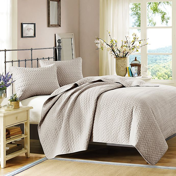 Alternate image 1 for Hampton Hill Velvet Touch King Coverlet Set in Linen