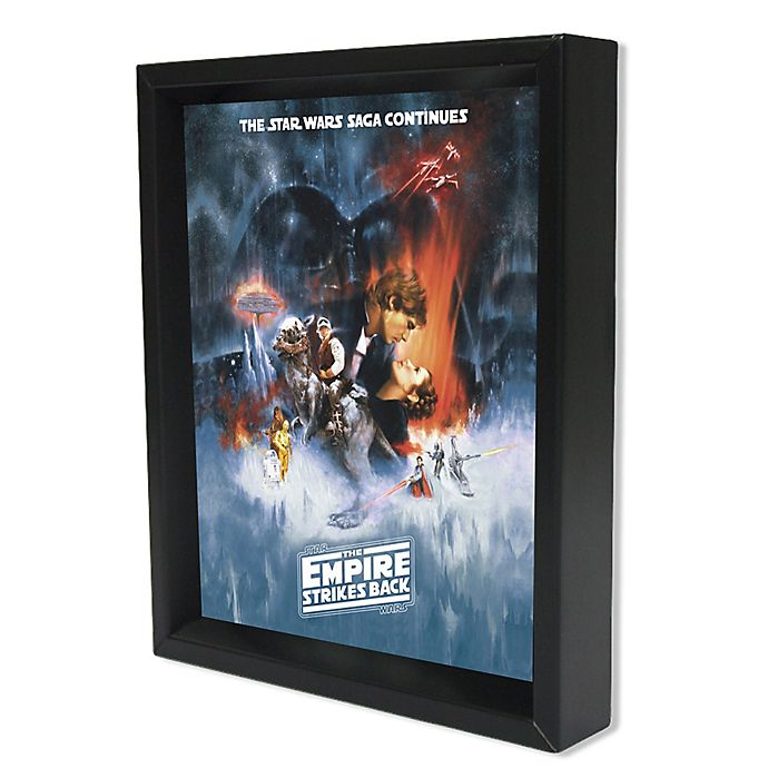 Star Wars The Empire Strikes Back One Sheet Framed 3d Lenticular