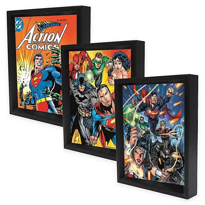 DC Comics™ Framed 3D Lenticular Shadowbox Wall Art  b2dfc06d87ff1