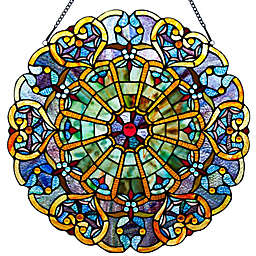 River of Goods 22-Inch Stained Glass Webbed Heart Window Panel