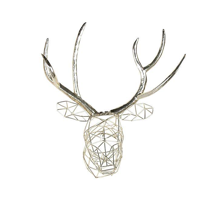 Alternate image 1 for Kate and Laurel Faux Deer Metal Wall Art in Silver