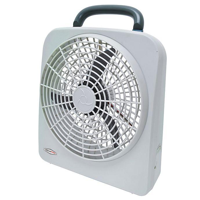 Alternate image 1 for ROADPRO® RP8000 2-Speed Portable Fan in White