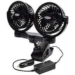ROADPRO® RPSC8572 Variable Speed Dual Fan with Mount Clip in Black