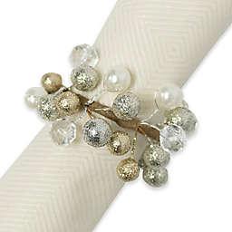 Glitzy Beaded Wreath Napkin Rings (Set of 4)
